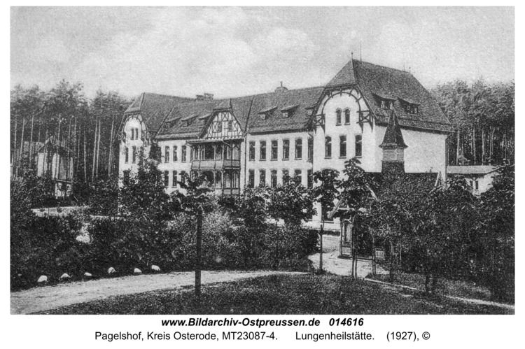 Pagelshof, Lungenheilstätte