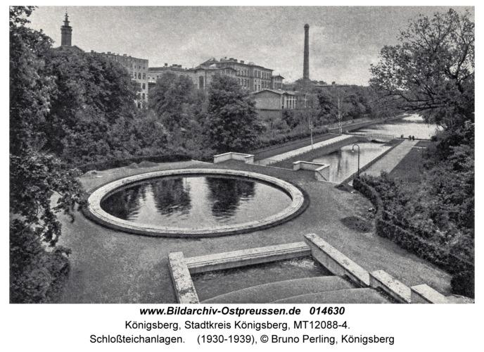 Königsberg, Schloßteichanlagen