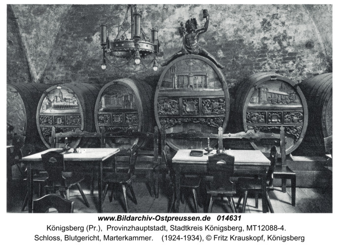 Königsberg, Schloss, Blutgericht, Marterkammer