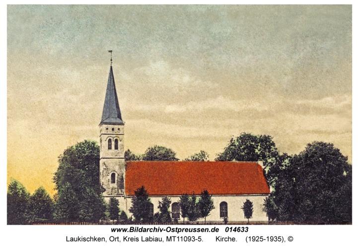 Laukischken, Kirche