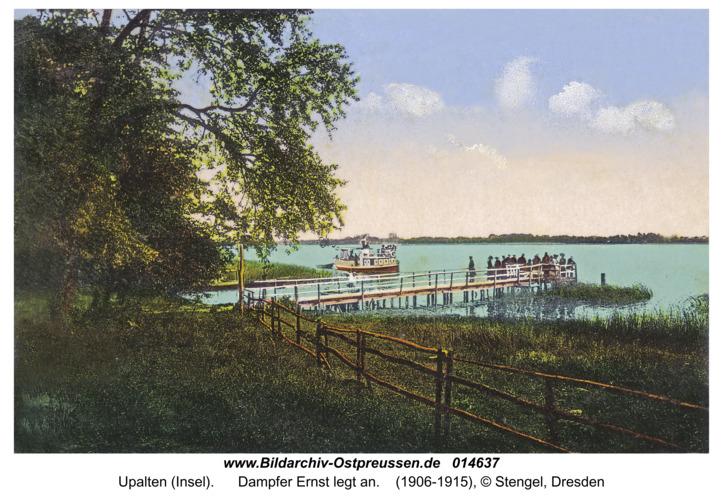 Upalten (Insel), Dampfer Ernst legt an