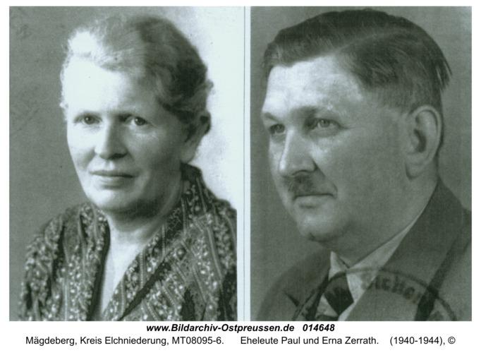 Mägdeberg, Eheleute Paul und Erna Zerrath