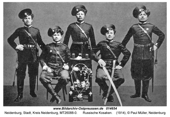 Neidenburg, Russische Kosaken