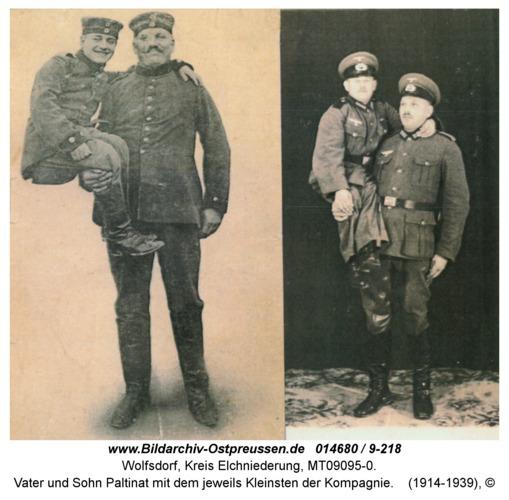 Wolfsdorf, Vater und Sohn Paltinat mit dem jeweils Kleinsten der Kompagnie