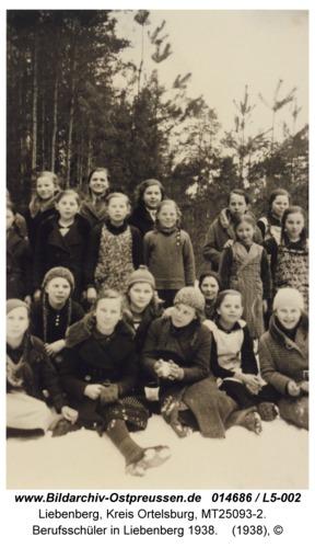 Liebenberg, Berufsschüler in Liebenberg 1938