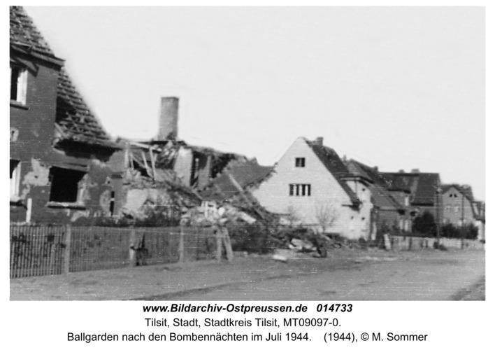 Tilsit, Ballgarden nach den Bombennächten im Juli 1944