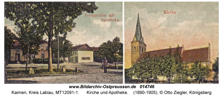 Kaimen, Kirche und Apotheke
