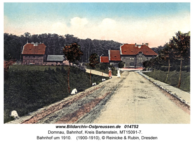 Domnau, Bahnhof um 1910