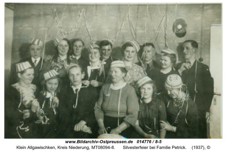 Klein Allgawischken, Silvesterfeier bei Familie Petrick