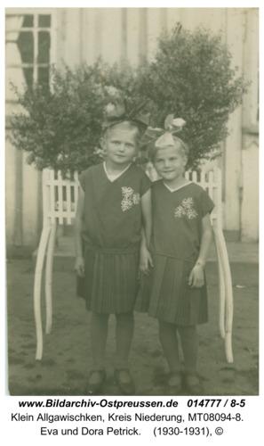 Klein Allgawischken, Eva und Dora Petrick
