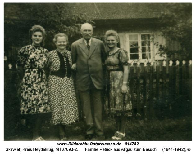 Skirwiet, Familie Petrick aus Allgau zum Besuch