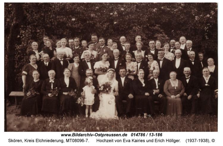 Skören, Hochzeit von Eva Kairies und Erich Höllger