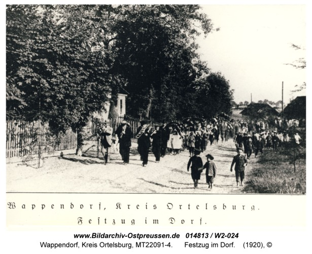 Wappendorf, Festzug im Dorf