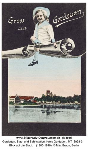 Gerdauen, Blick auf die Stadt