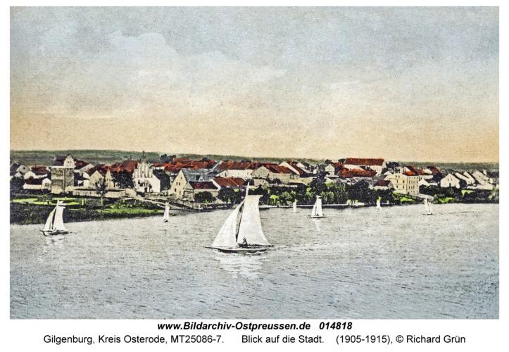 Gilgenburg, Blick auf die Stadt