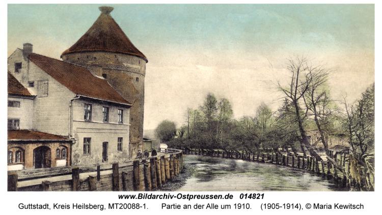 Guttstadt, Partie an der Alle um 1910
