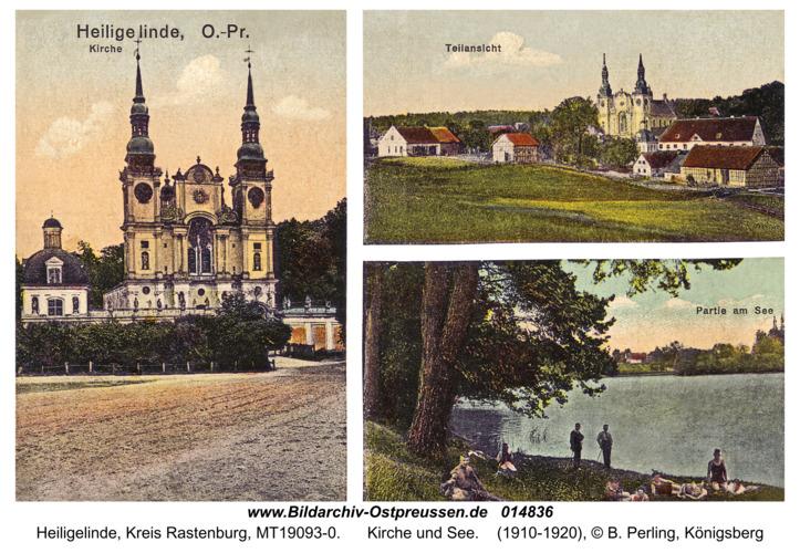 Heiligelinde, Kirche und See