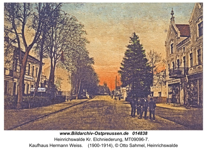 Heinrichswalde Kr. Elchniederung, Kaufhaus Hermann Weiss