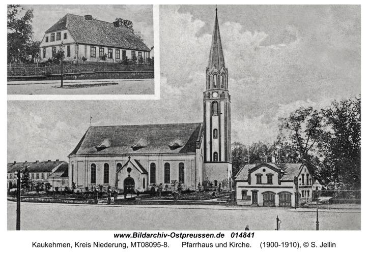 Kuckerneese (fr. Kaukehmen), Pfarrhaus und Kirche