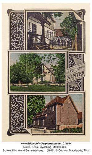 Kinten, Schule, Kirche und Gemeindehaus