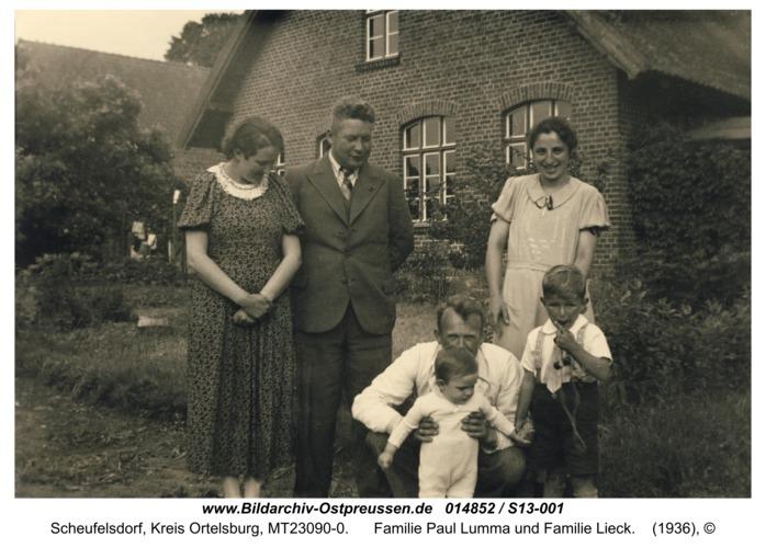 Scheufelsdorf, Familie Paul Lumma und Familie Lieck