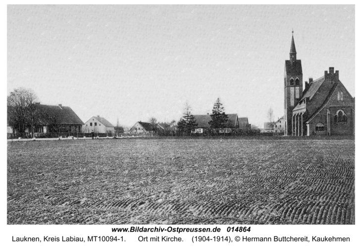 Hohenbruch (fr. Lauknen), Ort mit Kirche