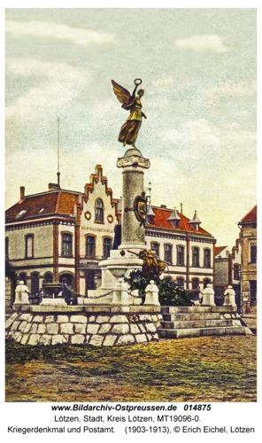 Lötzen, Kriegerdenkmal und Postamt