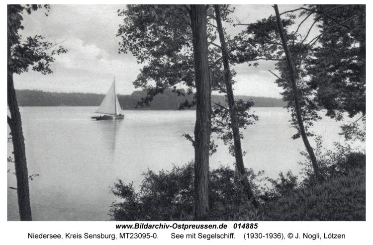 Niedersee, See mit Segelschiff