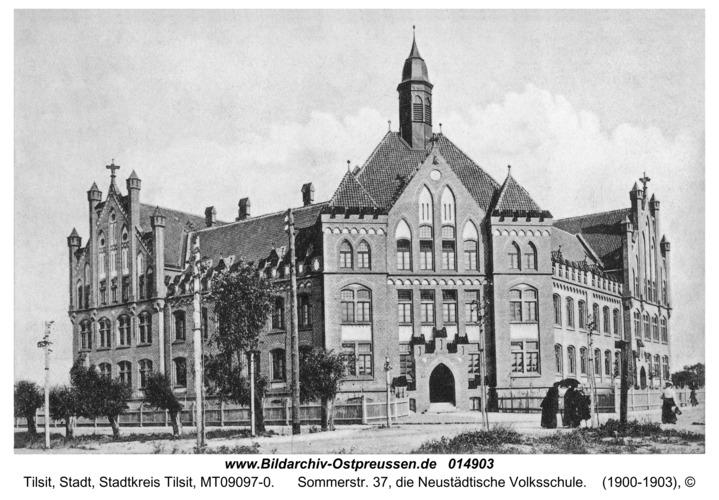 Tilsit, Sommerstr. 37, die Neustädtische Volksschule