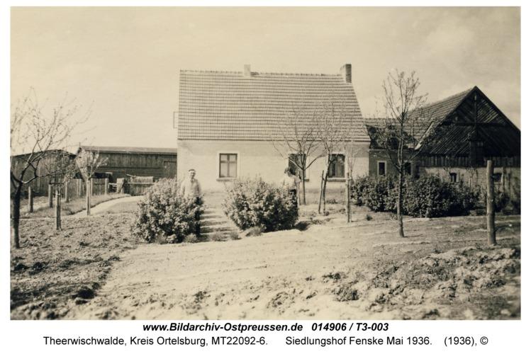 Theerwischwalde, Siedlungshof Fenske Mai 1936
