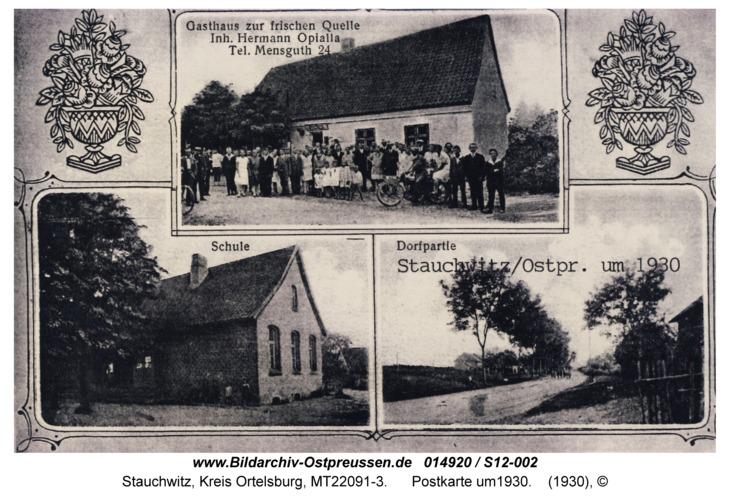 Stauchwitz, Postkarte um 1930
