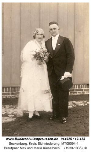 Seckenburg, Brautpaar Max und Maria Kieselbach