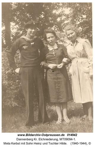 Dannenberg, Meta Kerbst mit Sohn Heinz und Tochter Hilde