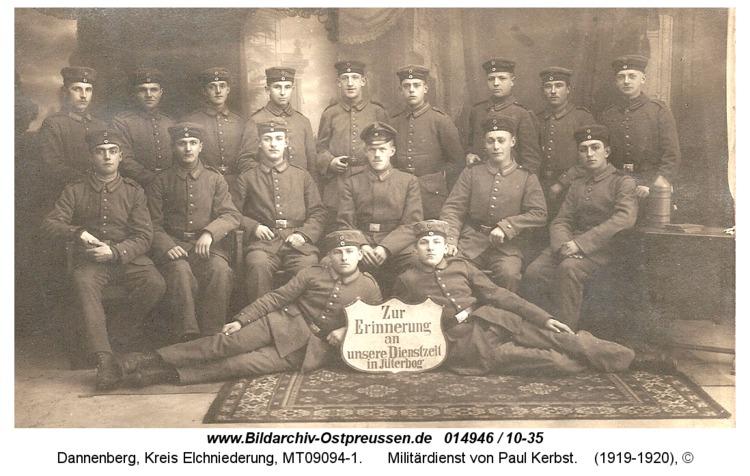 Dannenberg, Militärdienst von Paul Kerbst