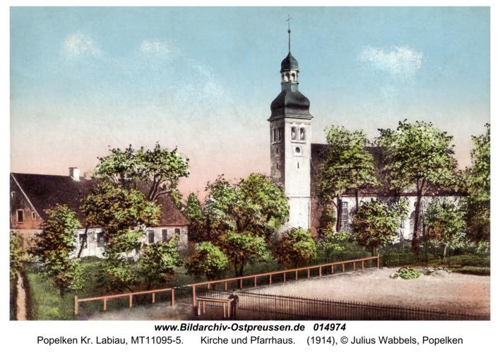 Markthausen fr. Popelken, Kirche und Pfarrhaus