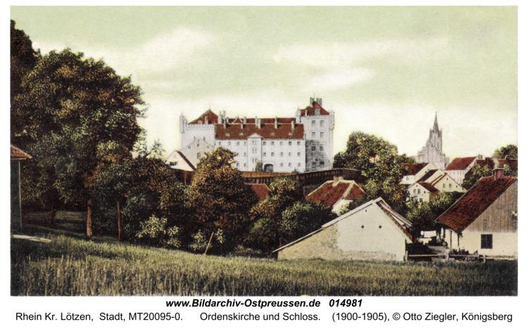 Rhein Kr. Lötzen, Ordenskirche und Schloß