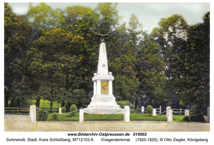 Schirwindt, Kriegerdenkmal