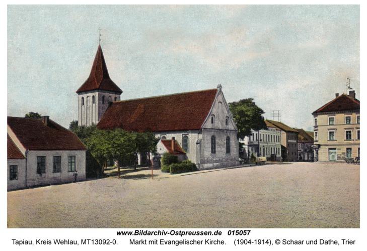 Tapiau, Markt mit Evangelischer Kirche