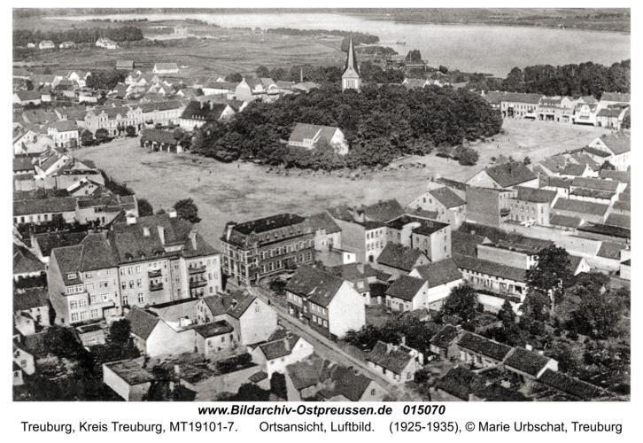 Treuburg, Ortsansicht, Luftbild