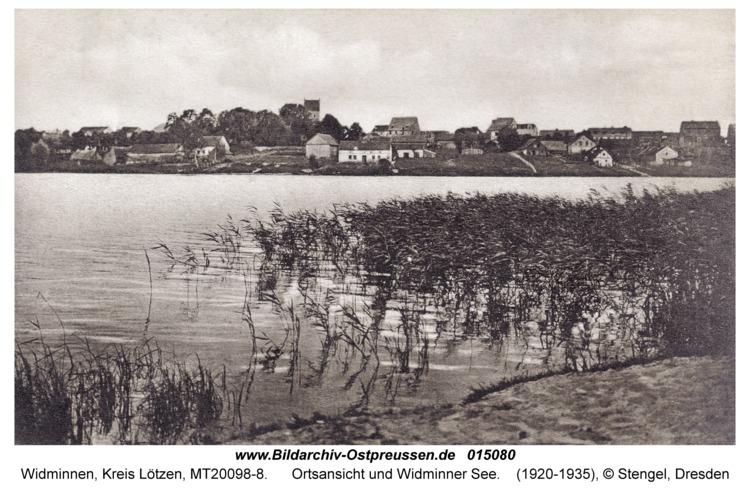 Widminnen, Ortsansicht und Widminner See