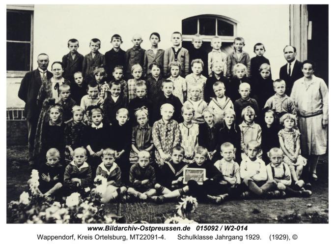 Wappendorf, Schulklasse Jahrgang 1929