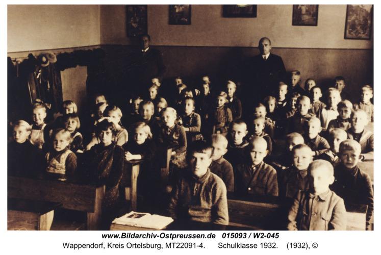 Wappendorf, Schulklasse 1932