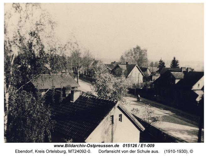 Ebendorf, Dorfansicht von der Schule aus