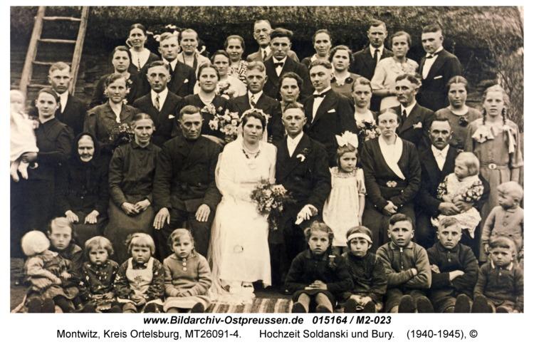 Montwitz, Hochzeit Soldanski und Bury