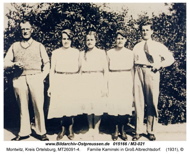 Montwitz, Familie Kaminski in Groß Albrechtsdorf