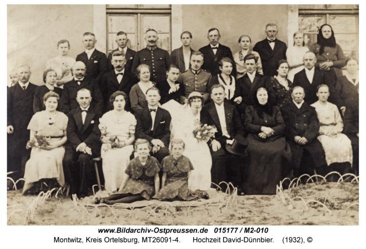 Montwitz, Hochzeit David-Dünnbier