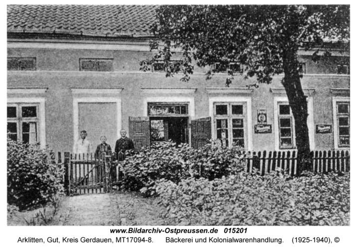 Arklitten, Bäckerei und Kolonialwarenhandlung