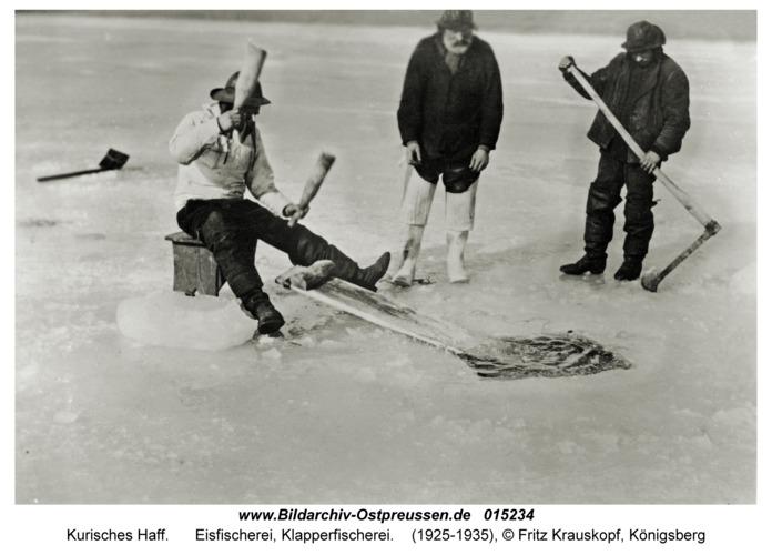 Kurisches Haff, Eisfischerei, Klapperfischerei
