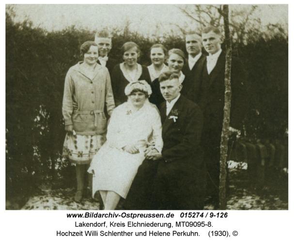 Lakendorf, Hochzeit Willi Schlenther und Helene Perkuhn