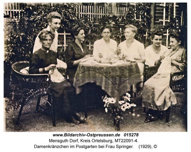 Mensguth, Damenkränzchen im Postgarten bei Frau Springer